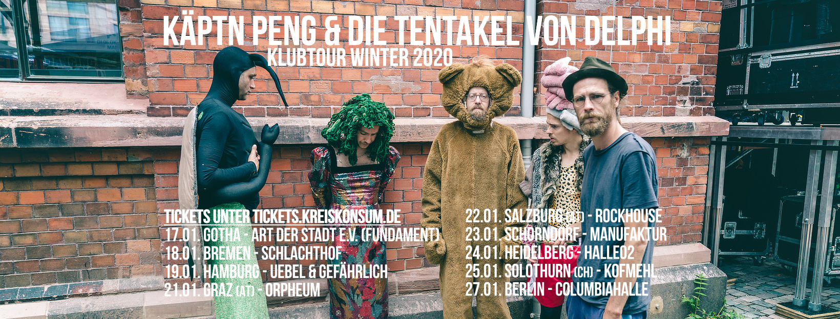 Käptn Peng & Die Tentakel von Delphi - Klubtour Winter 2020