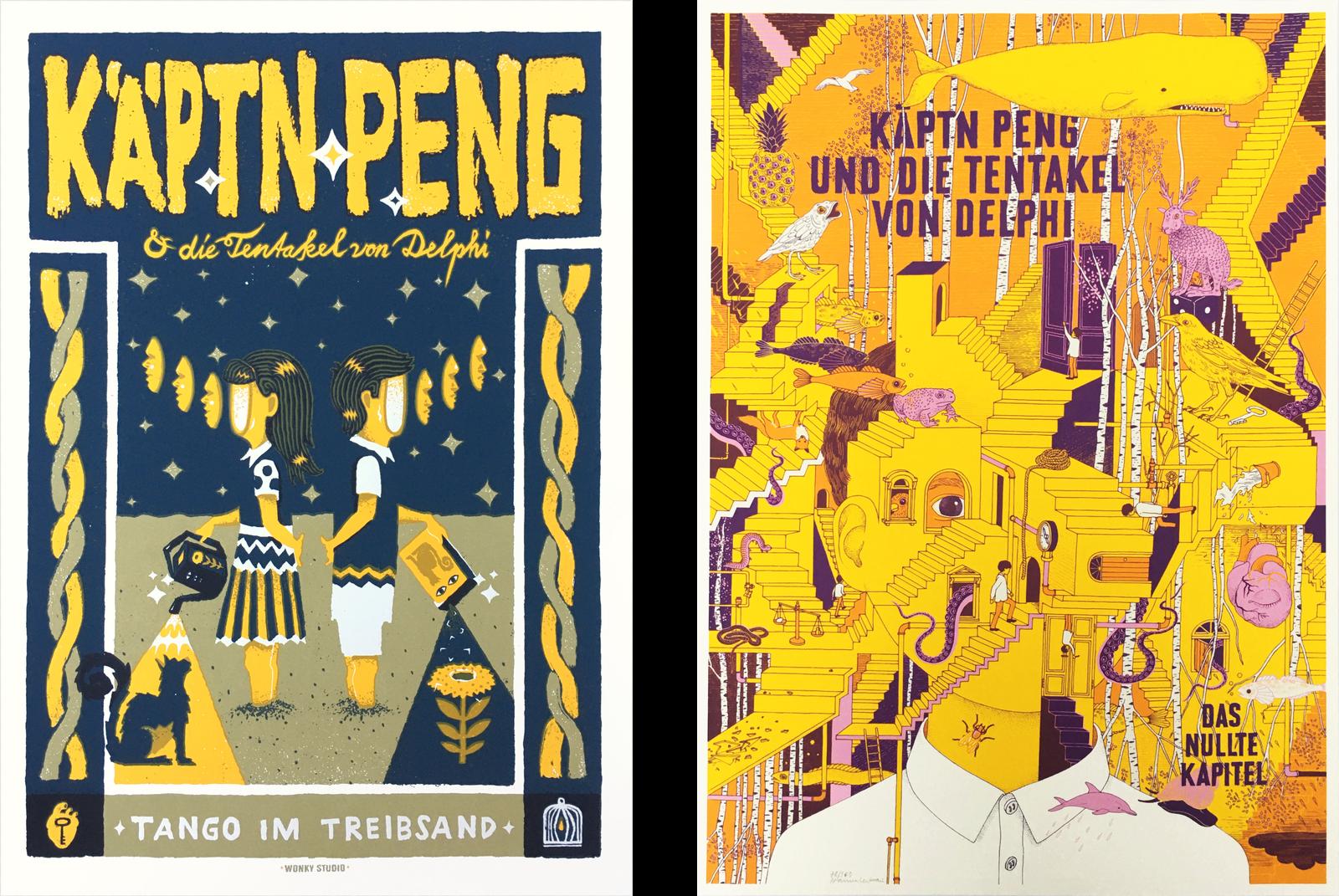 KÄPTN PENG & DIE TENTAKEL VON DELPHI Siebdruck Poster
